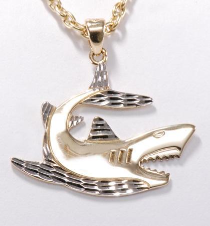Zlatý přívěšek žralok P164