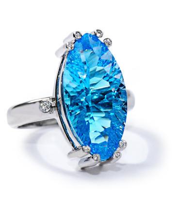 Zlatý prsten Modrá laguna PD370  - 1