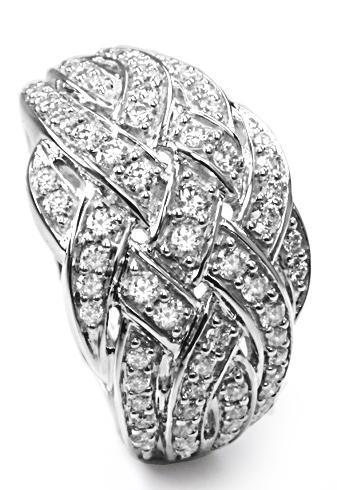 Zlatý prsten s diamanty PD438  - 1