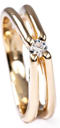 Zlatý prsten s diamantem PD263