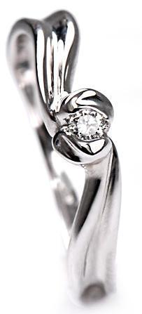 Zlatý prsten s diamantem PD272