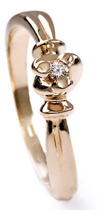 Zlatý prsten s diamantem PD274