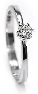 Zlatý prsten s diamantem PD377