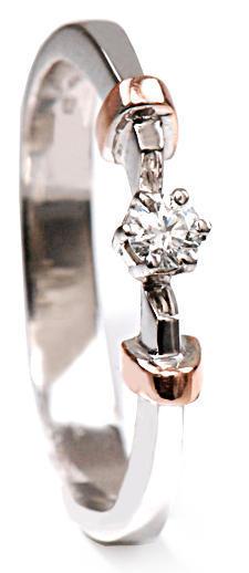 Zlatý prsten s diamantem PD429