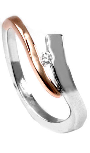Zlatý prsten s diamantem PD534