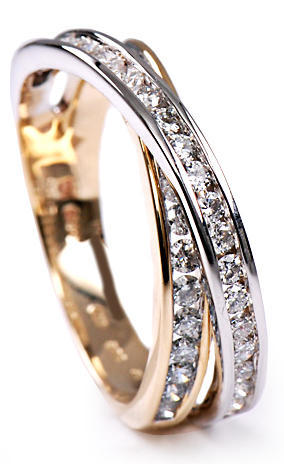 Zlatý prsten s diamanty PD270