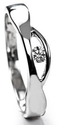 Zlatý prsten s diamantem PD410