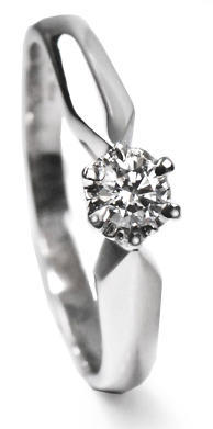 Zlatý prsten s diamantem PD411