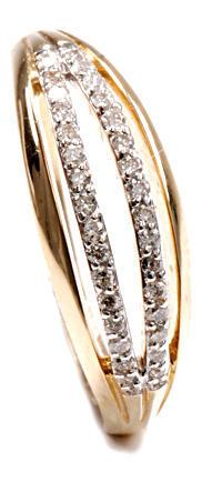 Zlatý prsten s diamanty PD481
