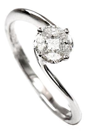 Zlatý prsten s diamanty PD497