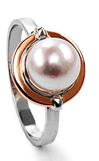 Zlatý prsten s mořskou perlou