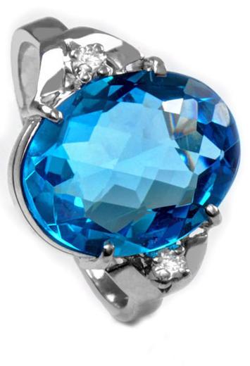 Zlatý prsten s topazem a diamanty PD546