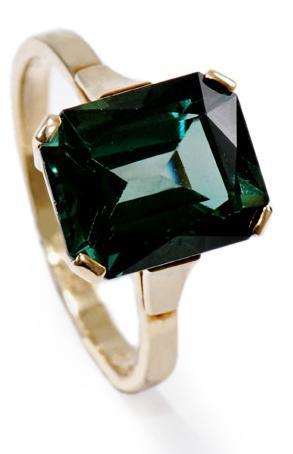 Zlatý prsten s turmalínem P943  - 1