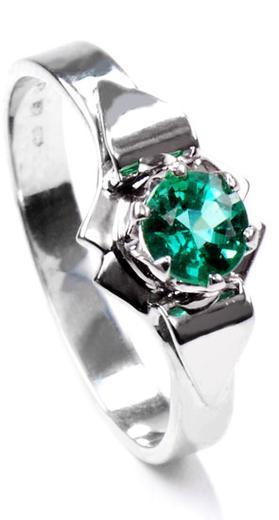 Zlatý prsten se smaragdem P966