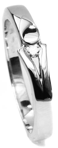 Zlatý prsten s diamantem PD381  - 1