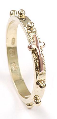 Zlatý růžencový prsten P953
