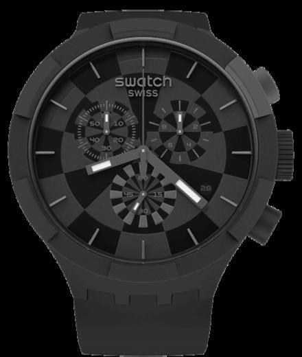 SWATCH hodinky SB02B400 BIG BOLD CHECKPOINT BLACK  - 1