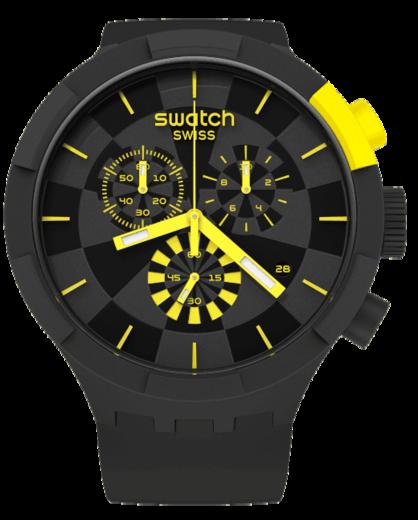 SWATCH hodinky SB02B403 BIG BOLD CHECKPOINT YELLOW  - 1