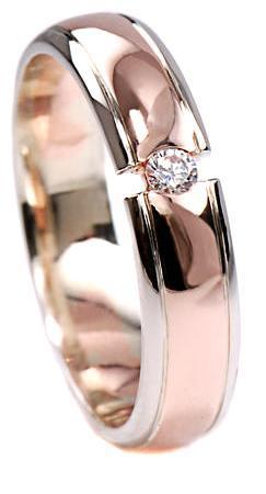 Zlaté snubní prsteny S35