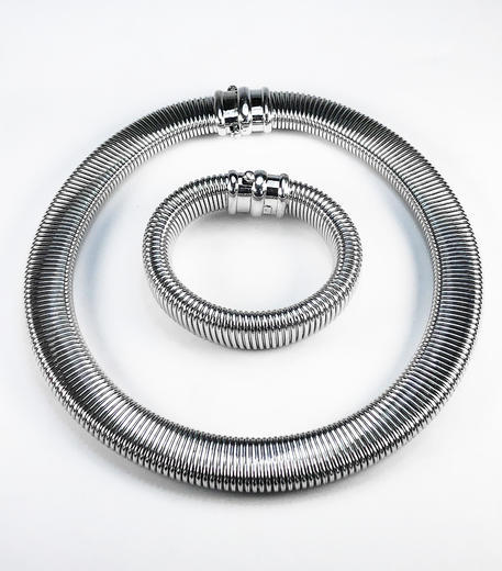 Stříbrná souprava Obojek náhrdelník a náramek 22072021  - 1