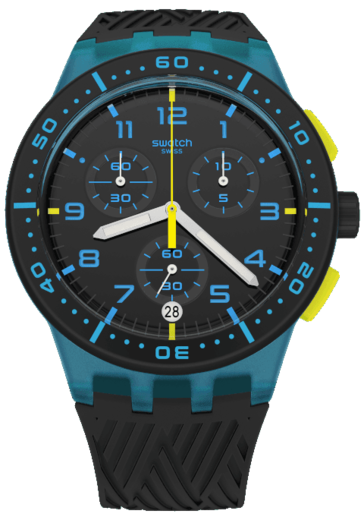 SWATCH hodinky SUSS402 BLUE TIRE  - 1