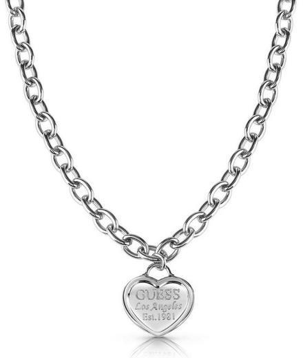 Guess náhrdleník UBN28014 steel