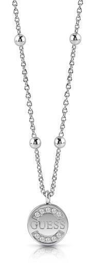 Guess náhrdleník UBN28037 steel
