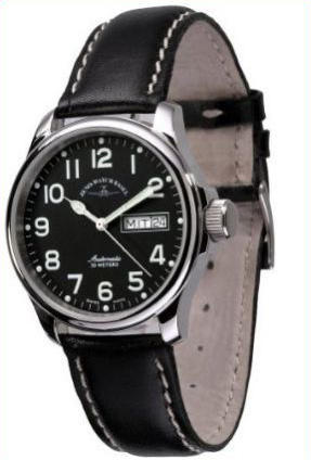 Zeno Watch Basic pilot 12836DD-a1 - GoldEligius c26a3705996