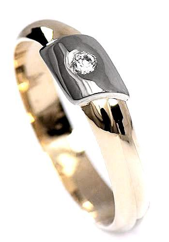 Zlaté snubní prsteny S22