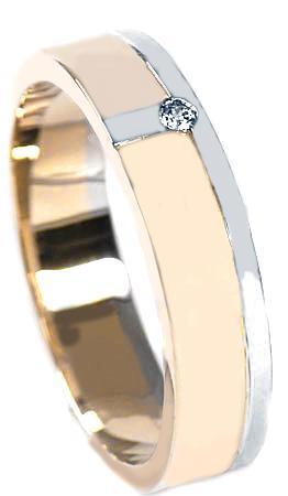 Zlaté snubní prsteny S32