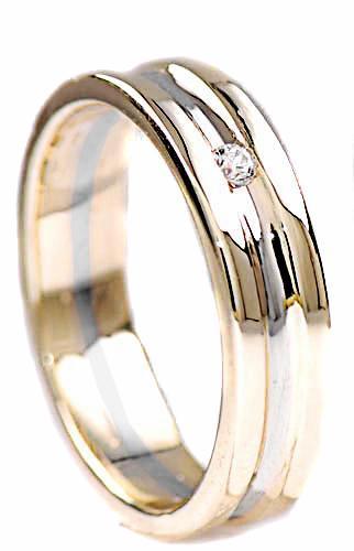 Zlaté snubní prsteny S11