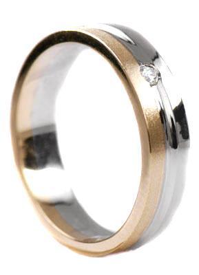 Zlaté snubní prsteny S17  - 1