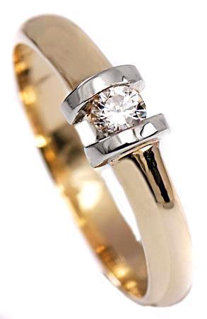 Zlaté snubní prsteny S23