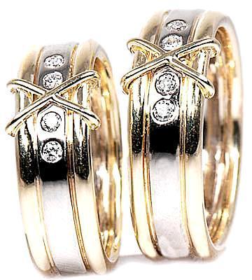Zlaté snubní prsteny S29  - 1