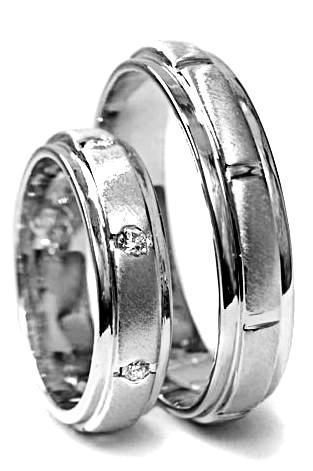 Zlaté snubní prsteny S61