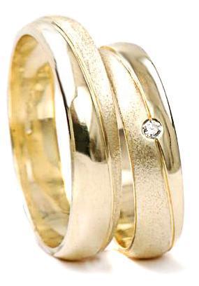 Zlaté snubní prsteny S62