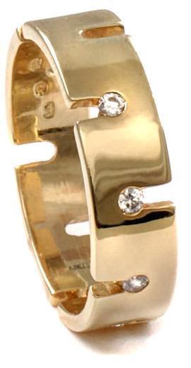 Zlaté snubní prsteny S66