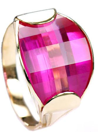 Zlatý prsten s rubínem P301  - 1