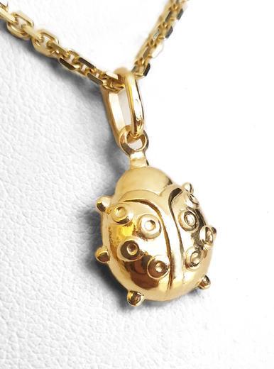 Zlatý přívěšek brouk 062147  - 1