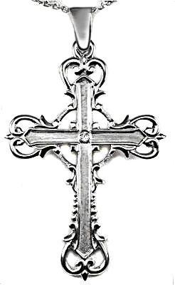 Zlatý přívěšek kříž P139