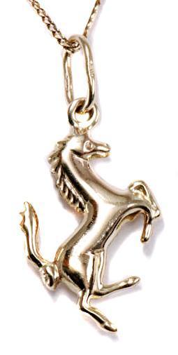 Zlatý přívěšek koník P145