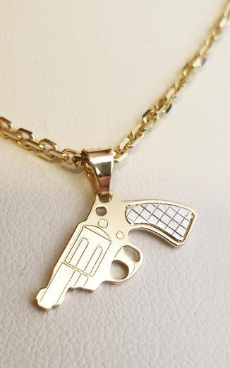 Zlatý přívěšek revolver 068333  - 1
