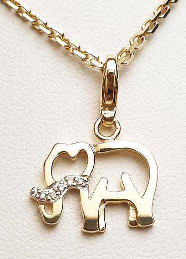 Zlatý přívěšek sloník 068276  - 1