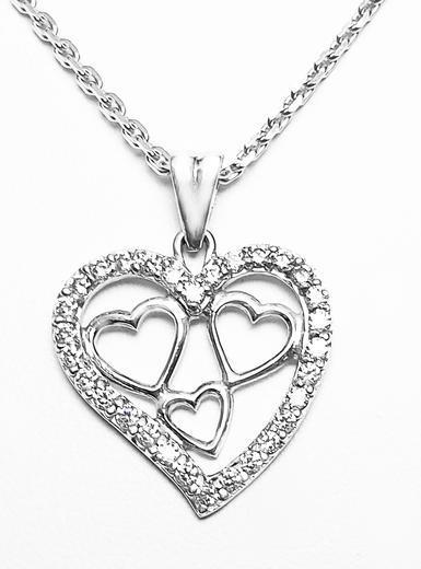 Zlatý přívěšek srdce 068321  - 1