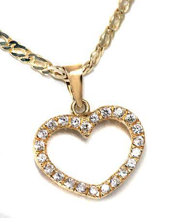 Zlatý přívěšek srdce P112