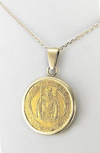 Zlatý přívěšek sv. Václav 21052021  - 1