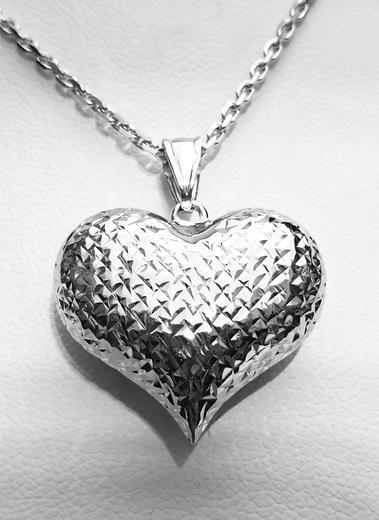Zlatý přívěšek srdce 068227  - 1