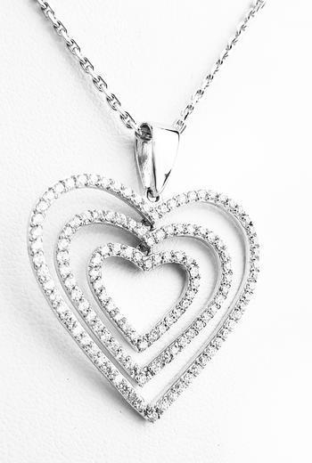 Zlatý přívěšek velká srdce 067283  - 1