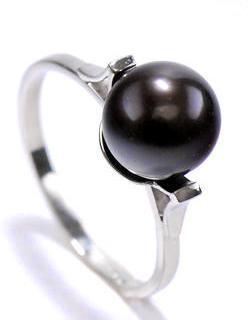 Zlatý prsten s perlou P883  - 1