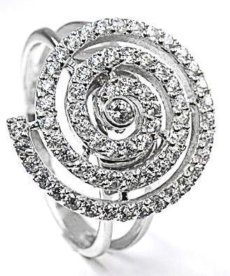 Zlatý prsten se zirkony P902
